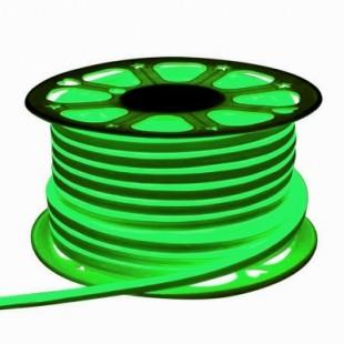Неон гибкий General, сечение 8х16 мм., Зелёный свет, 504311