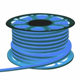 Неон гибкий General, сечение 8х16 мм., Синий свет, 504411