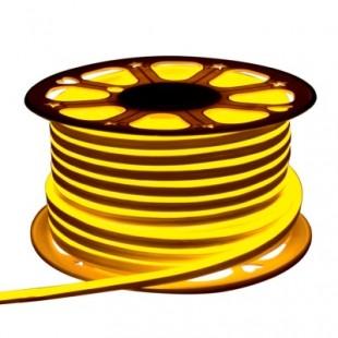 Неон гибкий General, сечение 8х16 мм., Жёлтый свет, 504511