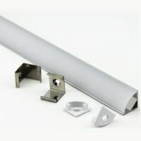 Профиль алюминиевый 16х16 для светодиодной ленты 522700