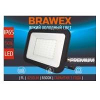 Прожектор светодиодный Brawex, 50 Вт., (Холодный белый свет), П-02