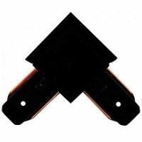Коннектор для шинопровода L-образный однофазный черный General, 580903