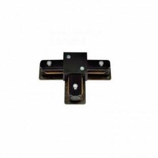Коннектор для шинопровода Т-образный однофазный черный General, 580942