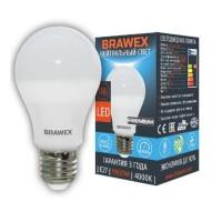 Лампа светодиодная Brawex (грушевидная матовая) 11Вт., Нейтральный белый свет, цоколь Е27, А-02