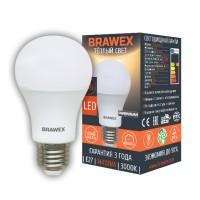 Лампа светодиодная Brawex (грушевидная матовая) 16Вт., Тёплый белый свет, цоколь Е27, А-05