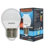 Лампа светодиодная Brawex (шарик матовый) 7Вт., Нейтральный белый свет, цоколь Е27, Г-04