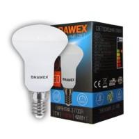 Лампа светодиодная Brawex (Рефлекторная R50) 7Вт., Нейтральный белый свет, цоколь Е14, Р-02