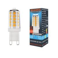 Лампа светодиодная Brawex (капсульная) 4Вт., Нейтральный белый свет, цоколь G9, Т-12