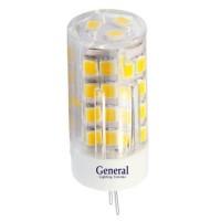Лампа светодиодная General (капсульная) 5Вт., Теплый белый свет, цоколь G4, 652000