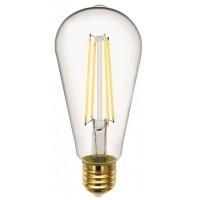 Лампа светодиодная филаментная General (декоративная) 10Вт., Тёплый белый свет, цоколь Е27, 655304