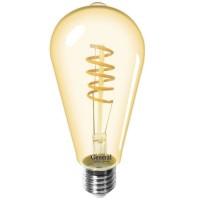 Лампа светодиодная филаментная General (декоративная золотая) 7Вт., Тёплый белый свет, цоколь Е27, 655306