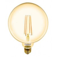 Лампа светодиодная филаментная General (глоб G95 золотой) 8Вт., Тёплый белый свет, цоколь Е27, 655307
