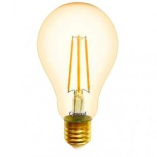 Лампа светодиодная филаментная General (грушевидная золотая) 13Вт., Тёплый белый свет, цоколь Е27, 655318
