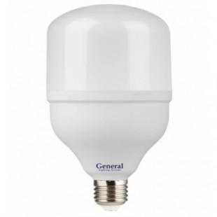 Лампа светодиодная General (высокомощная) 50Вт., Холодный белый свет, цоколь Е27, 660003