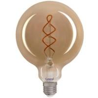 Лампа светодиодная филаментная General (глоб G95 серый) 6Вт., Тёплый белый свет, цоколь Е27, 684900