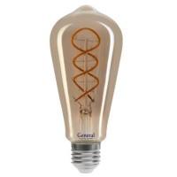 Лампа светодиодная филаментная General (декоративная серая) 6Вт., Тёплый белый свет, цоколь Е27, 685000